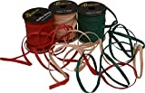 "Raffia String/Ribbon, Red Green & Natural 1/4"" x 75 Feet Each Spool, Pack of 3 spools"