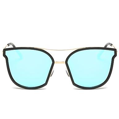 e55c13b56b5 Fashion Polarized Designer Sunglasses UV Protection 400 Mirror Lens Metal  Frame w  Case Blue