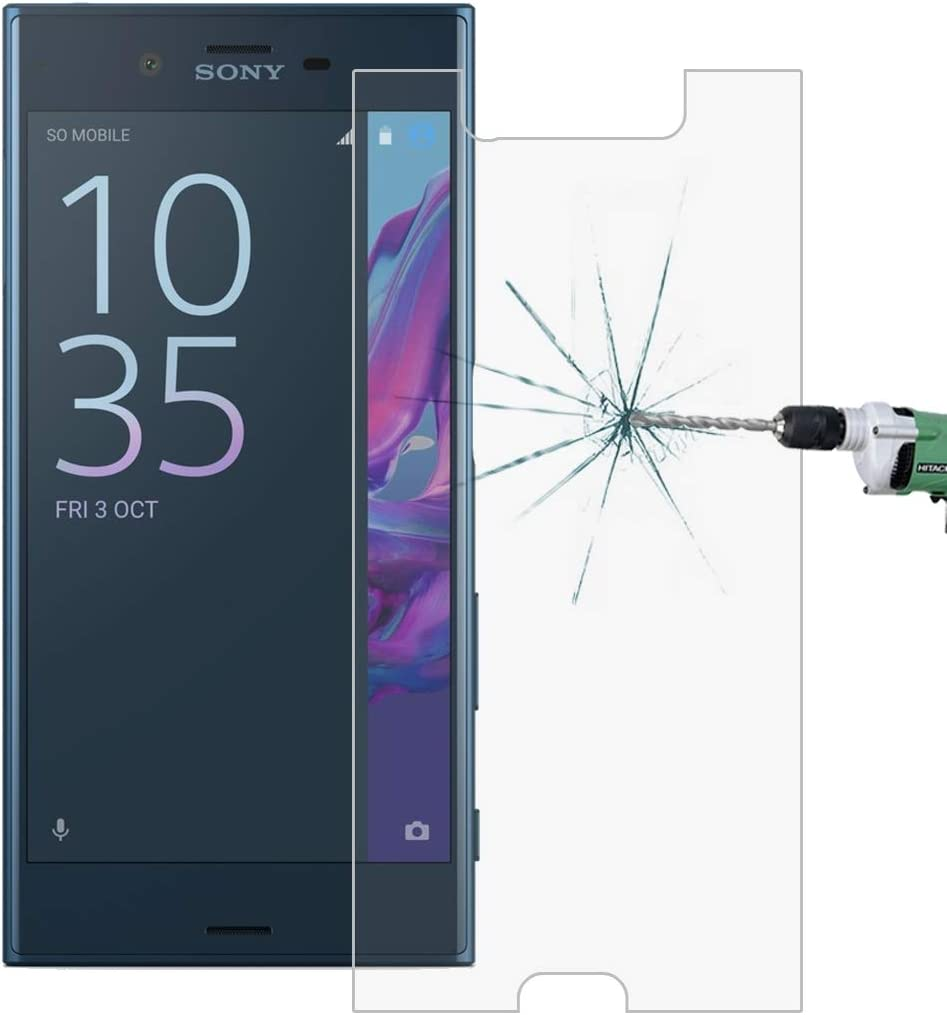 No Retail Package JIN Mobile Phone Screen Film 50 PCS for Sony Xperia XZ 0.26mm 9H Surface Hardness 2.5D Explosion-Proof Tempered Glass Screen Film