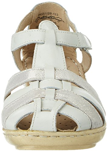 co Na Sandales Femme Caprice Blanc Ouvert 24551 Bout Offwhite p48FUw