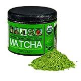 Ceremonial Grade Matcha Green Tea Powder - Antioxidants Rich USDA Organic & EU Organic Certified Matcha (Sipping as Tea) – Boosts Metabolism and Burns Calories Best Superfood. [35g, Tin] (Matcha)
