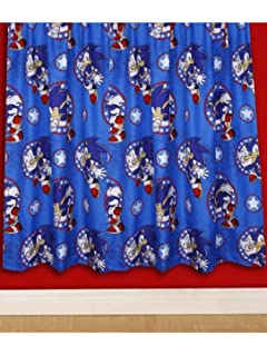 Character World 54 Inch Sonic The Hedgehog Sprint Curtains, Multi Color