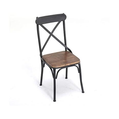 FH Sillas y sillones de Madera de Hierro Forjado Mesa de ...