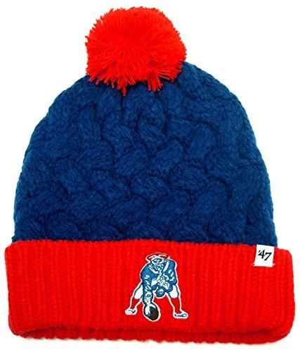 '47 NFL New England Patriots Women's Matterhorn Cuff Knit Hat, One Size, Royal