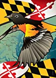 Citizen Pride Maryland Oriole Large House Flag by Joe Barsin, 28×40 For Sale
