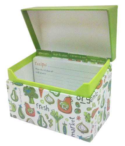 The Gift Wrap Company Recipe Box and Cards