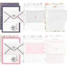 24 Pcs Lined Kawaii Writing Stationery with 12 Pcs Envelopes and 12 seal stickers Set for Writing Letters Cute Japanese Stationery Writing Paper by SHXSTORE