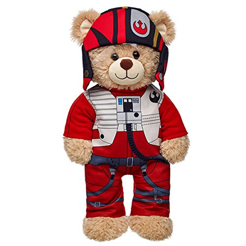 Red Care Bear Costume (Build-a-Bear Workshop Star Wars Poe Dameron Teddy Bear Costume 2 pc.)