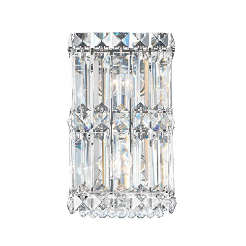 Schonbek 2235A Swarovski Lighting Quantum Wall Sconce, Stainless Steel