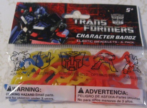 TRANSFORMERS CHARACTER SILLY BANDS PACK