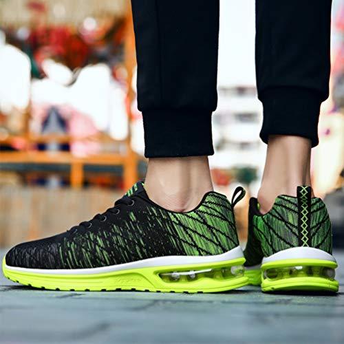 Sportive Unisex Scivolo Adulto Zhenghewyh Anti Scarpe Fitness Sneakers Nero verde pAqXqw