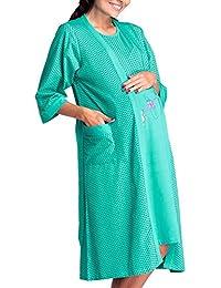Happy Mama Womens Maternity Hospital Gown Robe Nightie Set Labour & Birth. 228p