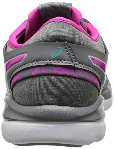 Scarpe da ginnastica GEL Fit Nova 2 da donna, color argento talpa / rosa / menta acqua, 11 M US