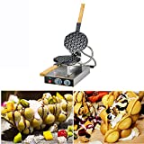 Electric Egg Cake Oven Puff Bread Maker, Stainless Steel Waffle Non-Stick Bake Machine,110V