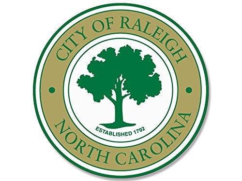 Raleigh North Carolina City Seal Sticker (decal logo (North Carolina Seal)