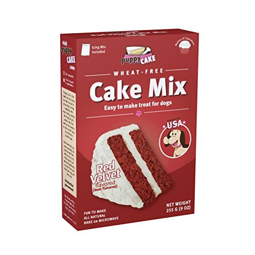 Puppy Cake Wheat-Free Red Velvet Cake Mix and Icing Mix for Dogs