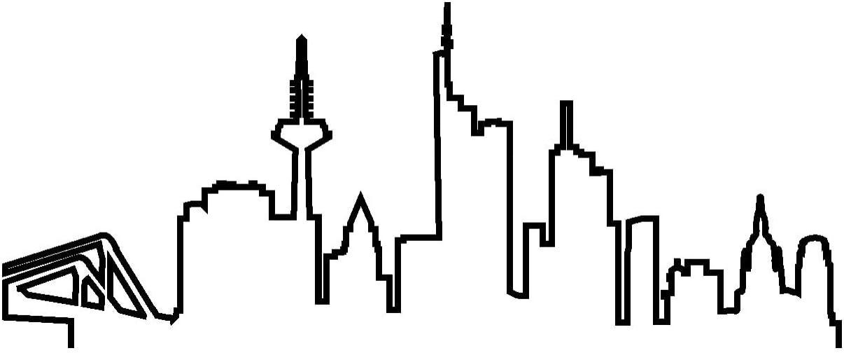 Samunshi Frankfurt Skyline Aufkleber Silhouette In 8 Größen Und 25 Farben 15x6 2cm Schwarz Küche Haushalt