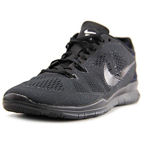 Nike Womens Free 5.0 TR Running Shoe Black/Black/Black 10 (Running Women Shoes Nike Black)