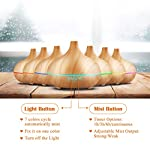 VicTsing 300ml Cool Mist Humidifier Ultrasonic Aroma Essential Oil Diffuser for Office Home Bedroom Living Room Study Yoga Spa – Wood Grain