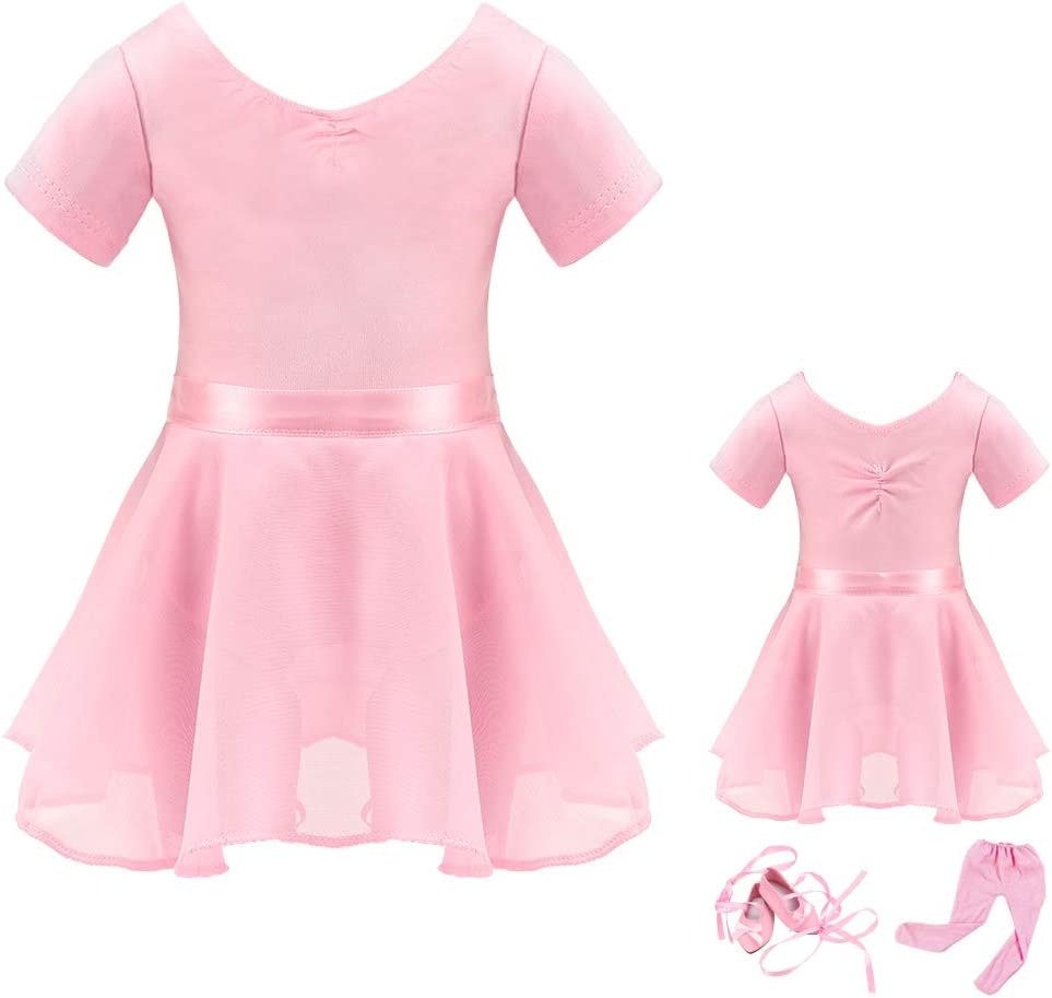 2 PCS Fashion Blue Ballet Dress Outfit for 18 Inch American Girl Gifts for Kids