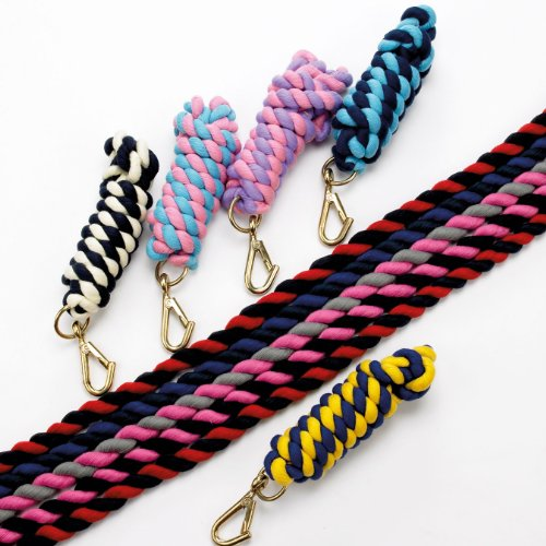 Hy Two Tone Twisted Lead Rope(Navy/Cream, )
