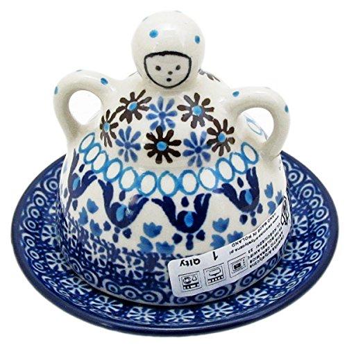 Polish Pottery Mini Cheese (Polish Pottery Handmade 4'' Mini Cheese Lady 112-Ice Capades)