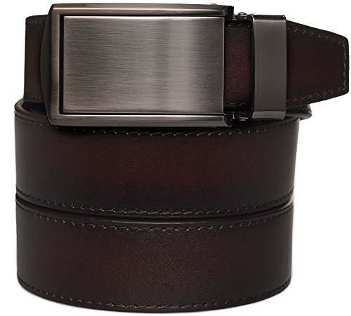 Mahogany Full Grain Leather with Gunmetal Buckle