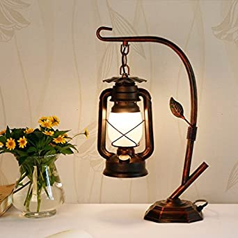 Vintage linterna lámpara vieja cabecera dormitorio decorar lámpara ...