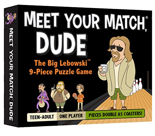 Meet Your Match, Dude - The Official 9-Piece Puzzle Game & Coaster Set based on The Big Lebowski