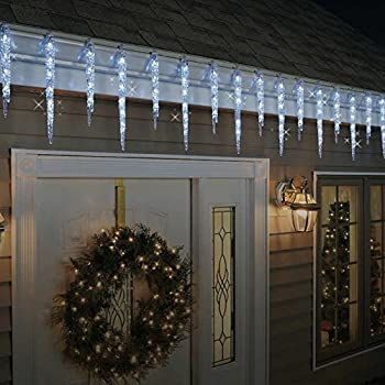 Ge 150 Light Clear Random Sparkle Snowflake Icicle Light