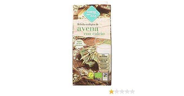 Costa Eco - Bebida Ecológica de Avena, 6 x 1L: Amazon.es: Alimentación y bebidas