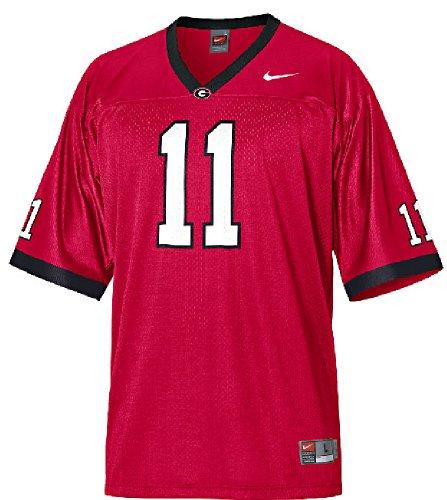 Georgia Bulldogs #11 Youth Football Jersey By Nike (Large)
