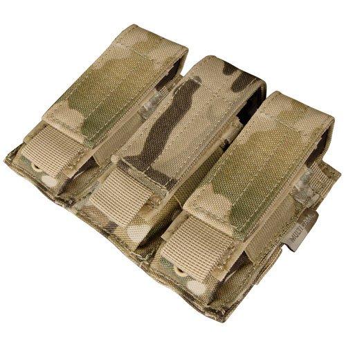 Condor MA52 Triple Pistol Mag Pouch Tactical Molle - Multicam
