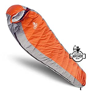 Archer Outdoor Gear Ultra-Light Duck Down Winter Sleeping Bag Survival Temperature Rating of 22 F
