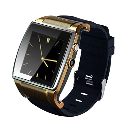 Alloet New Hi Watch2 Bluetooth Smart Watch WristWatch 2.0MP Camera for iPhone Android (Gold)