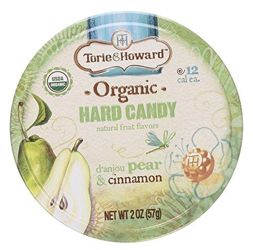 Cinnamon Pears - Torie and Howard Organic Hard Candy Tin, D'Anjou Pear and Cinnamon, 2 Ounce