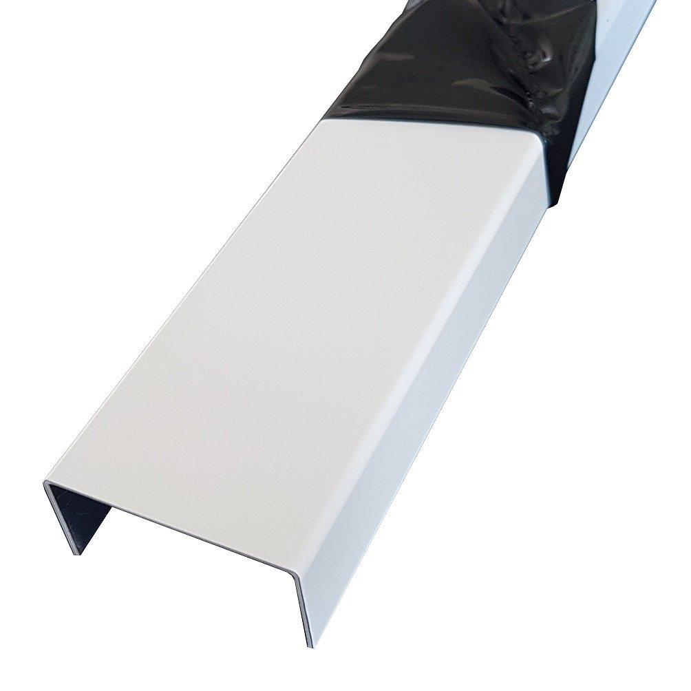 Kantenprofil 1500mm Aluminium U-Profil 15x40x15mm Abdeckprofil aus 1,5mm Aluminium Verkehrswei/ß RAL 9016 Einfassprofil