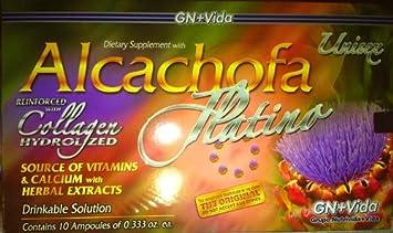 1 Box Alcachofa Platino with 10 Glass Ampoules / 1 Caja Alcachofa Platino Con 10 Ampolletas