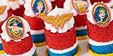 Wonder Woman Amazing Amazon Cupcake Rings - 24 ct