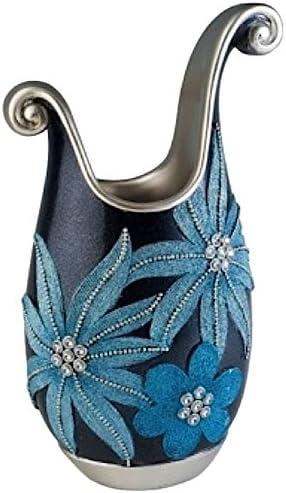 ORE International, Inc International K-4251V Demeter Decorative Vase, 14-Inch, Aqua, Blue