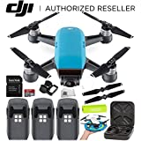 DJI Spark Portable Mini Drone Quadcopter Ultimate Palm Landing Pad Bundle (Sky Blue)