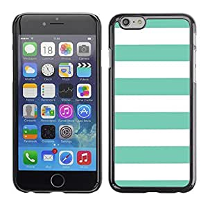 Graphic4You Color Stripes Pattern Design Hard Case Cover for Apple iPhone 6 (Tiffany Blue)