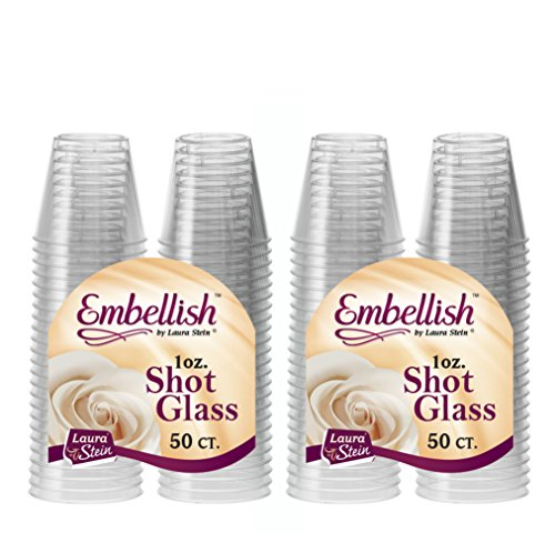 Disposable Shot Glasses - Embellish Hard Plastic 1oz Clear Shot Glass 100 count