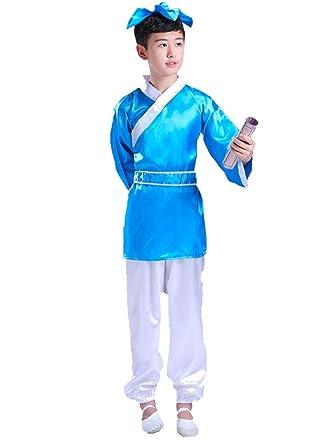 ZEVONDA Disfraces de Niño y Niña Traje de Confucio Niños ...