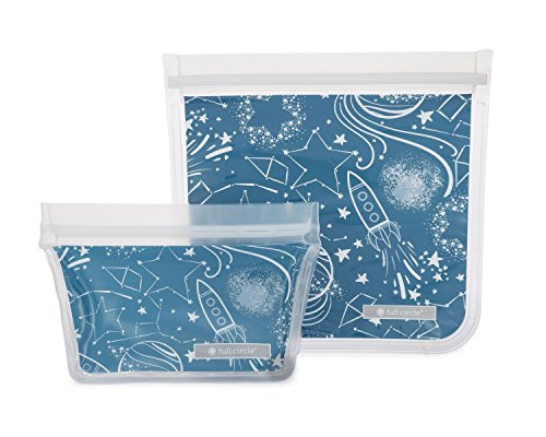 Full Circle ZipTuck Kids Reusable Lunch Bags, Space