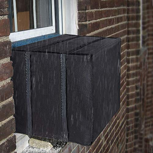 - LBG Products Premium Outdoor Winter AC Window Unit Black Cover,Heavy Duty Air Conditioner Defender for Standard American AC Window Unit,Bottom Covered