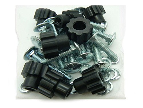 Pet Carrier / Kennel Replacement Nut Bolt Fasteners – Black-8pk