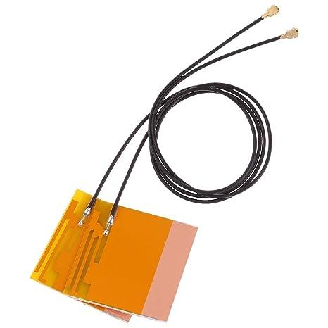 YCDZ STORE Antena RP-SMA 1 par Mini PCI-E WiFi Antena ...