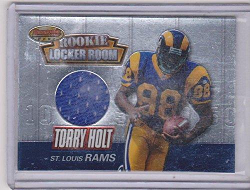 Rams Room Locker Louis - 1999 Bowman's Best Rookie Locker Room Torry Holt Rams Game Used Jersey Insert Football Card #RU5