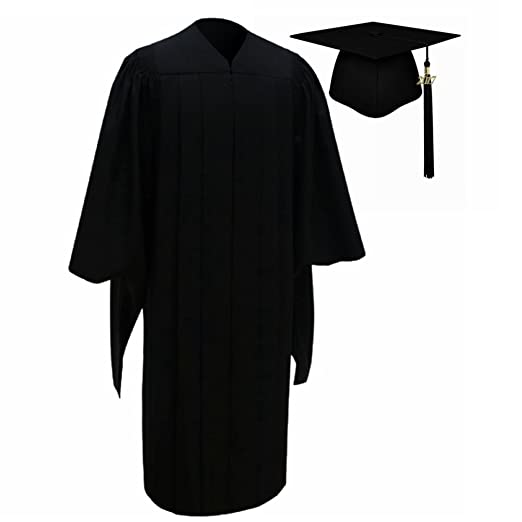 bd258e611c5 lescapsgown Deluxe Master Graduation Cap Gown with Tassel 2017(2018 is  available) Pack Black
